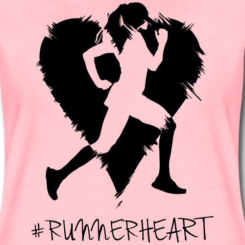 #Runnerheart girl - Frauen Premium T-Shirt