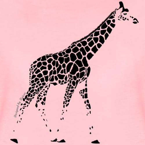Giraffe-1-3-Noir-F- - T-shirt Premium Femme
