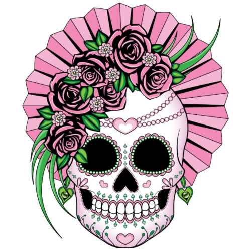 Lady Sugar Skull - Women's Premium T-Shirt