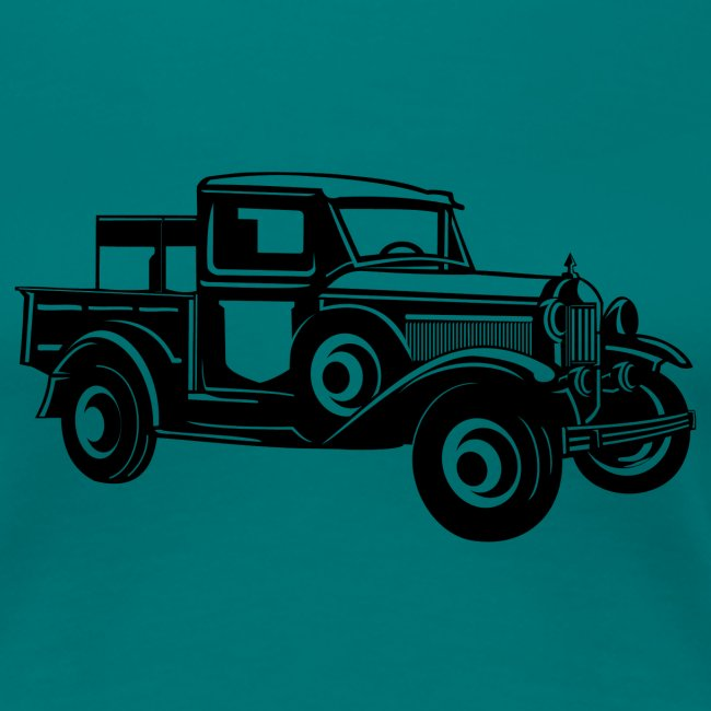 Pickup Oldtimer Truck 01_schwarz