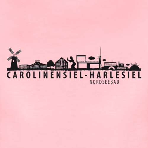 Skyline Carolinensiel-Harlesiel (schwarz) - Frauen Premium T-Shirt