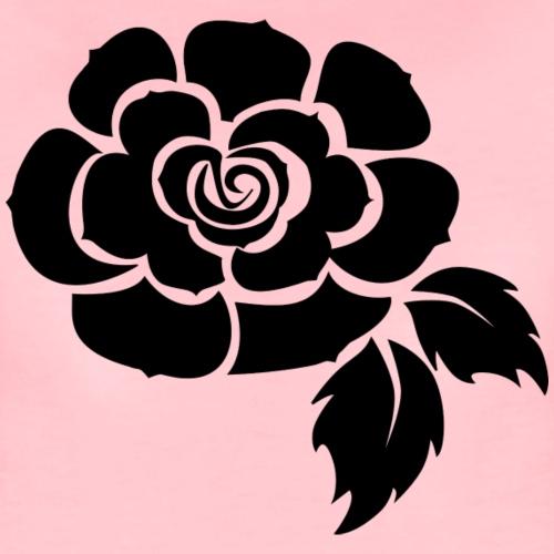 Schwarze Rose - Frauen Premium T-Shirt
