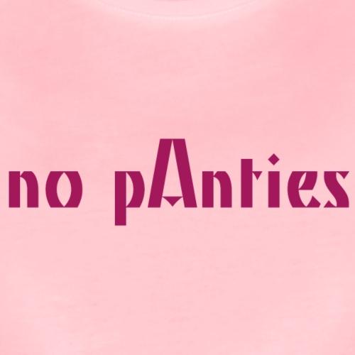 noPanties - Camiseta premium mujer