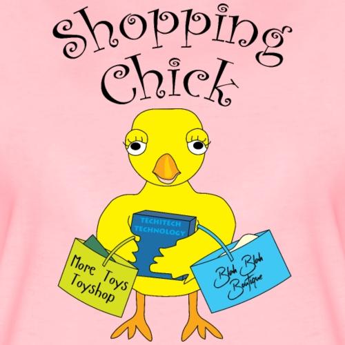 Shopping Chick Text - Women's Premium T-Shirt