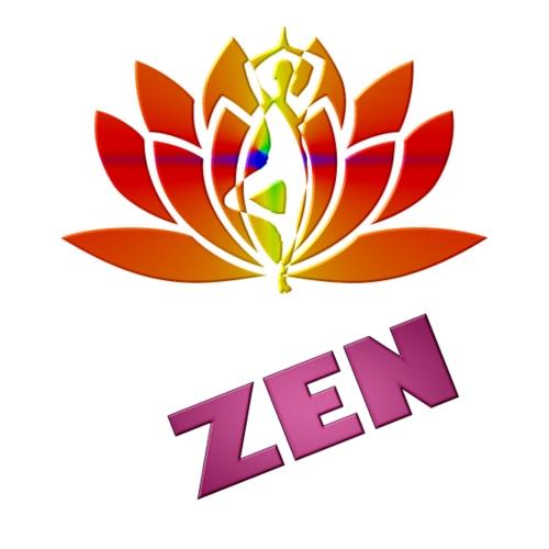 yoga lotus zen - T-shirt Premium Femme