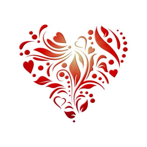 motif coeur rouge - T-shirt Premium Femme