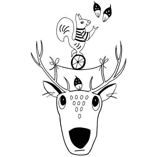 Rentier Eichhörnchen Acrobat Naturliebe Geschenk - Frauen Premium T-Shirt