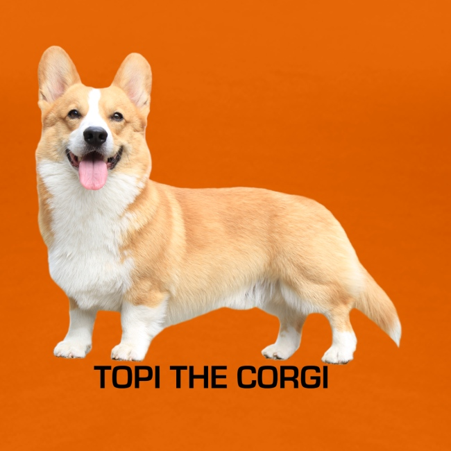 Topi the Corgi - Black text