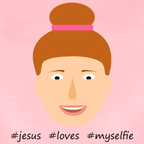 jesus loves myselfie - Frauen Premium T-Shirt