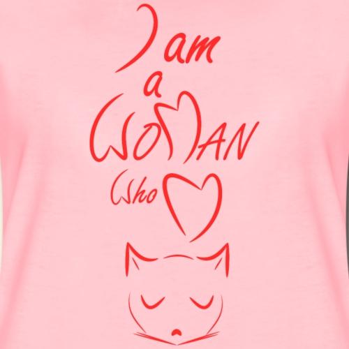 I am a woman who love cats - Women's Premium T-Shirt