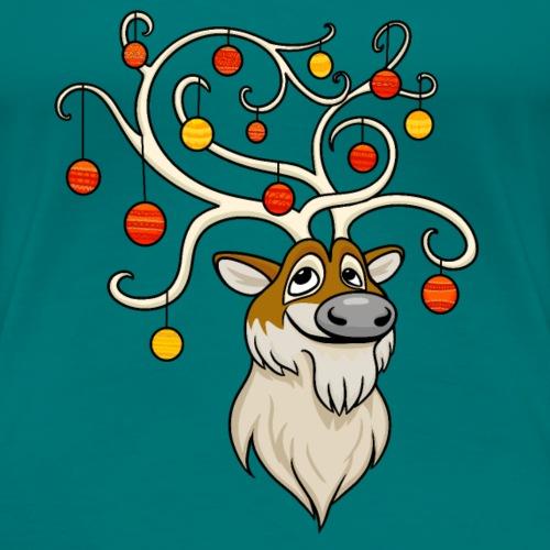 Festive Reindeer - Women's Premium T-Shirt