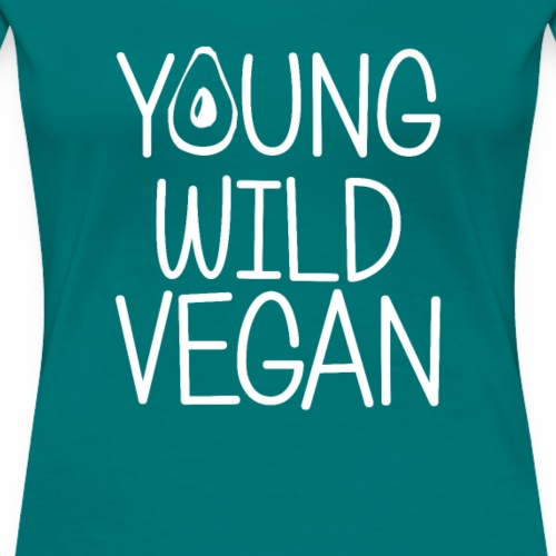 Young Wild Vegan Shirt Plant Powered Diet T-Shirt - Frauen Premium T-Shirt