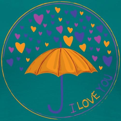 I LOVE YOU - Maglietta Premium da donna