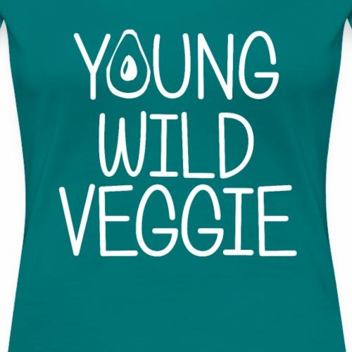 Young Wild Veggie Shirt Plant Powered Diet T-Shirt - Frauen Premium T-Shirt