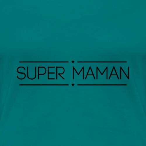 Logo Super Maman Noir - T-shirt Premium Femme