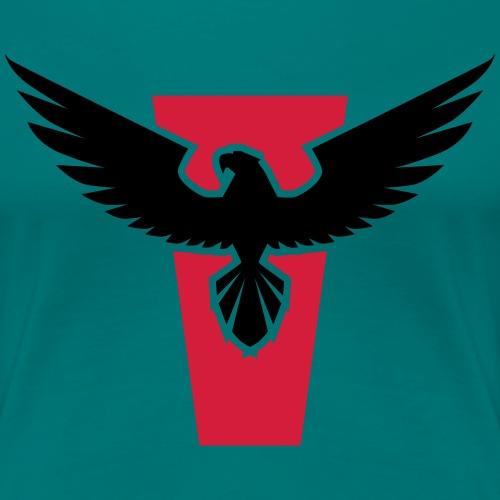 powerful hawk bird Adler Kraft Vogel - Frauen Premium T-Shirt