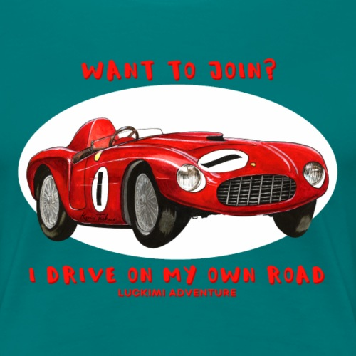 Happy Car Red - Women's Premium T-Shirt