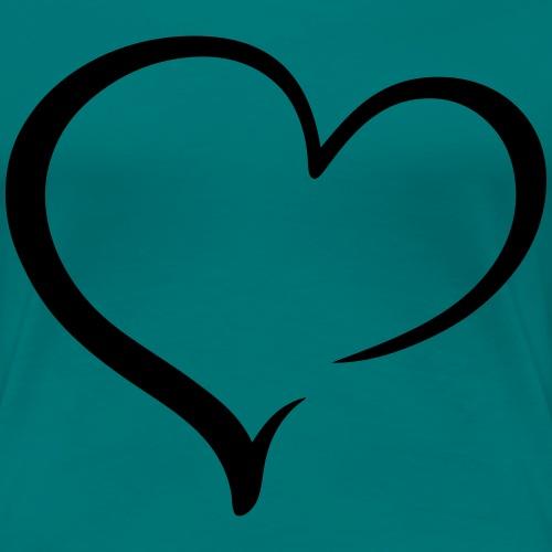 einfaches Herz - Frauen Premium T-Shirt