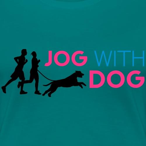 Jog with Dog - Laufen Joggen Riesenschnauzer Hund - Frauen Premium T-Shirt