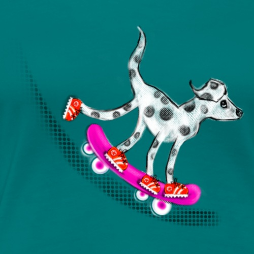 Spotty Skateboarder - Women's Premium T-Shirt