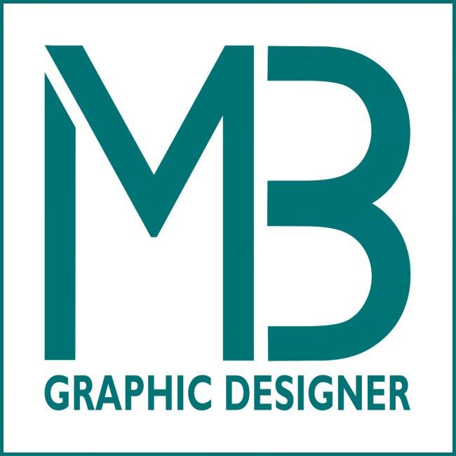 Logo MB Graphic Designer White