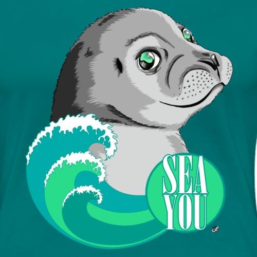 Sea You - Blue Waves - Frauen Premium T-Shirt