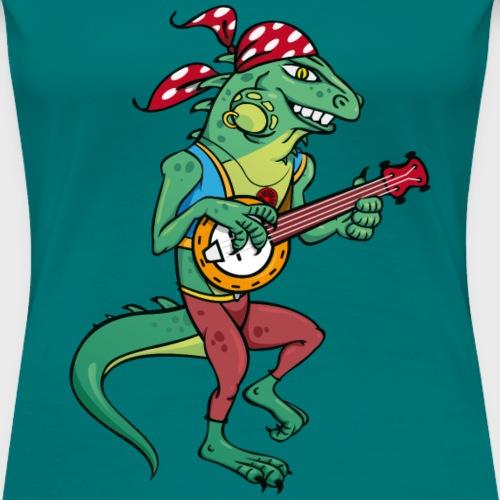 Tzigane iguane avec Banjo - T-shirt Premium Femme