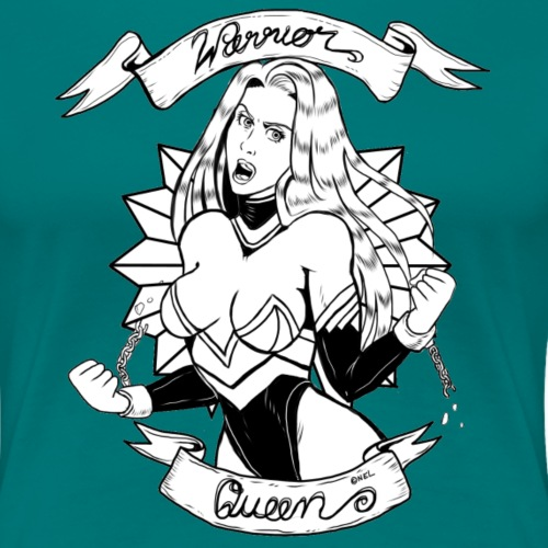 Warrior Queen (colour) - Frauen Premium T-Shirt