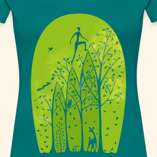 How to live - aufwärts - Frauen Premium T-Shirt