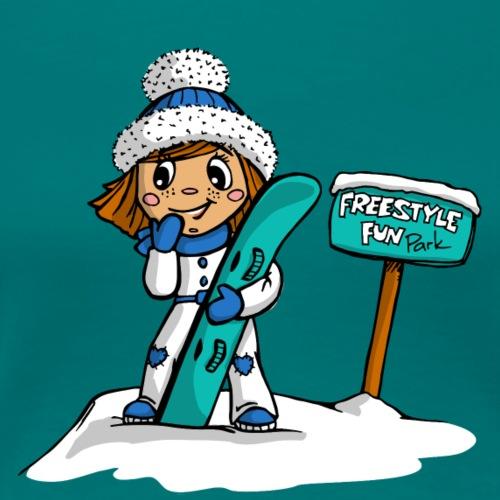 Angel Snowboard blau - Frauen Premium T-Shirt