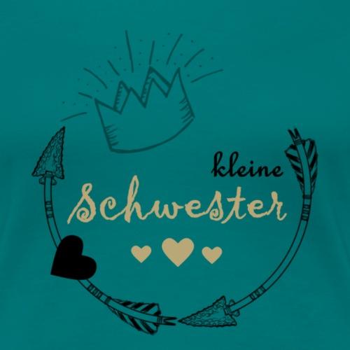 kleine Schwester - Frauen Premium T-Shirt