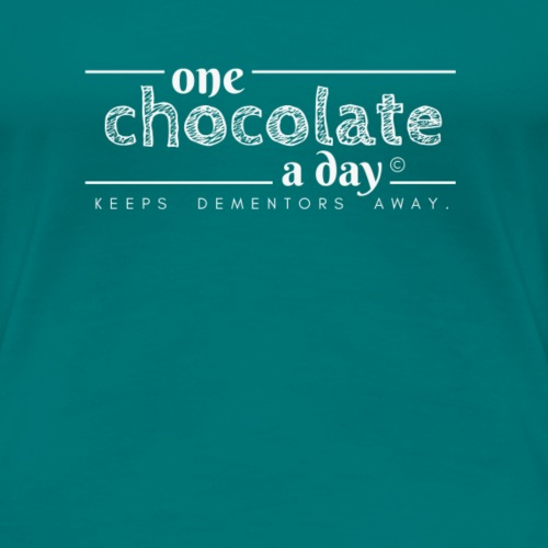 One chocolate a day keeps dementors away (white) - Maglietta Premium da donna
