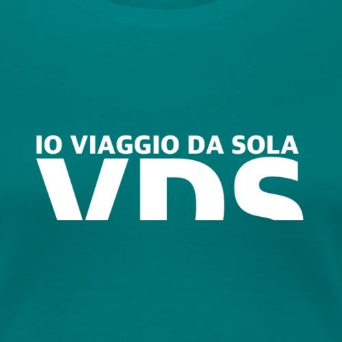 VDS IO VIAGGIODASOLA - Maglietta Premium da donna