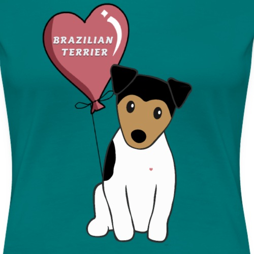 Brazil terrier - Premium-T-shirt dam