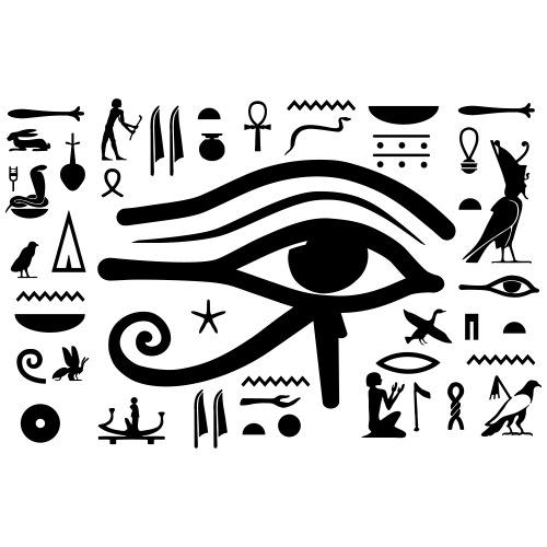 HORUS Hieroglyphen - Frauen Premium T-Shirt