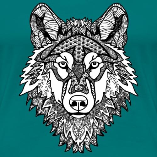 Mandala Wolf - Women's Premium T-Shirt