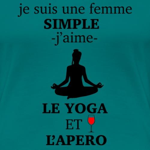 yoga et apero perso - T-shirt Premium Femme