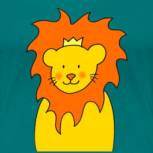 Löwe und König - Motiv von Janisha Sommer - Frauen Premium T-Shirt