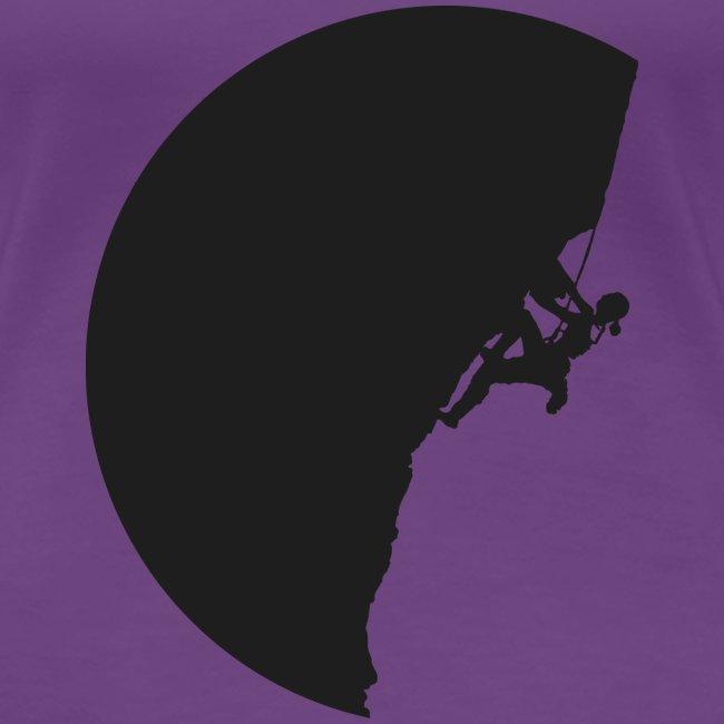 Klettrerin in schwarz