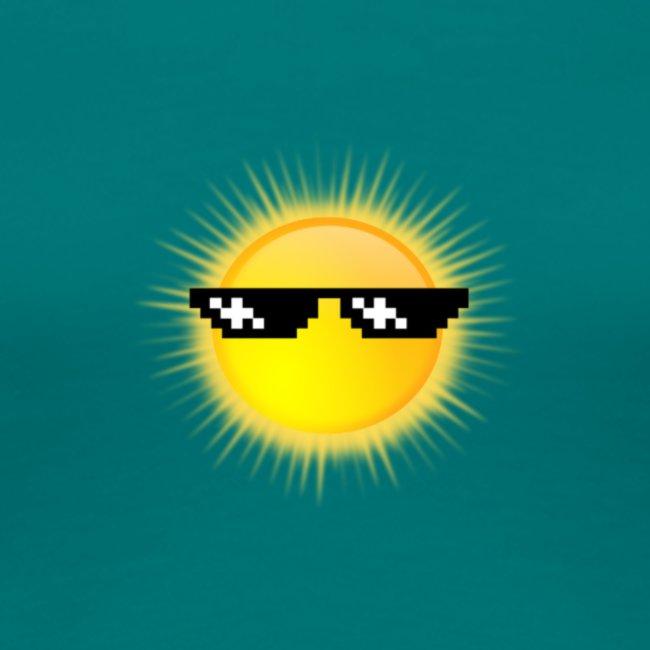 coole Sonne mit Sonnenbrille