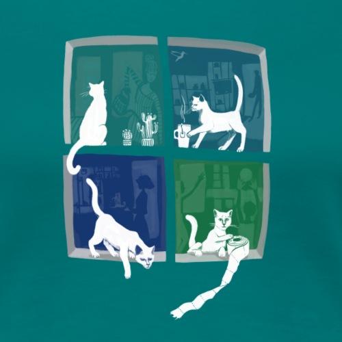 Windows20 - Katzen - Frauen Premium T-Shirt