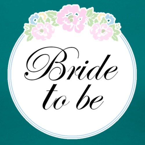 Floral Border Bride To Be - Women's Premium T-Shirt