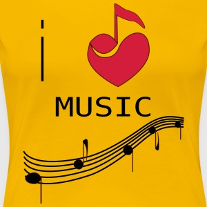 I_LOVE_MUSIC - Premium T-skjorte for kvinner