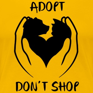Adopt don't shop - Women's Premium T-Shirt
