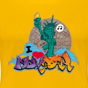 new_york_graffiti_002 - Vrouwen Premium T-shirt