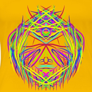 face trippy abstract psychedelic colorful - Women's Premium T-Shirt