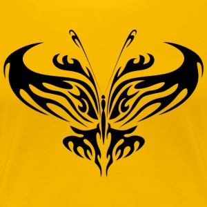 Tribal Tattoo Butterfly - Premium T-skjorte for kvinner