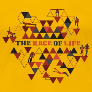 TheRaceOfLife - Premium-T-shirt dam