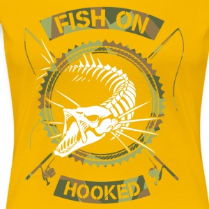 fish on white camo - Women's Premium T-Shirt