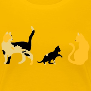three cats - Women's Premium T-Shirt